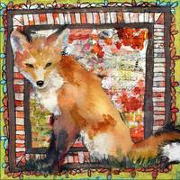 Mixed media Fox Print | Foxy Loxy