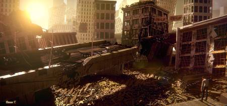Apocalyptic City Ruins