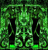 Egyptian Priests and Cobras in Green I