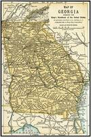 Georgia Antique Map 1891