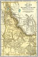 Idaho Anique Map 1891
