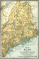 Maine Antique Map 1891