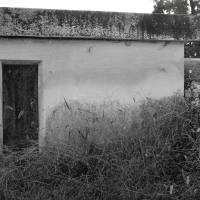 Old Building in Countryside Black and White by Karen Adams