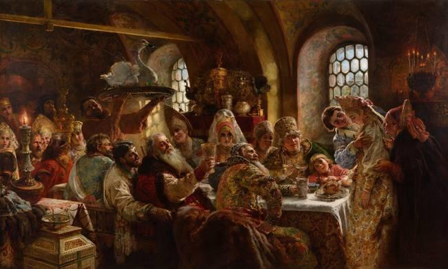A-Boyar-Wedding-Feast-Konstantin-Makovsk