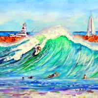 """The Wedge newport Beach CA"" by ArtbyLeclerc"