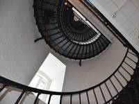The Spiral Stairs Above