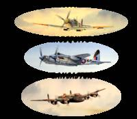 Spitfire Mosquito Lancaster With Banners