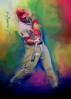 Mike Trout #12 Art by Edward vela