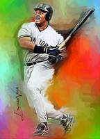 Cecil Fielder #2 Art by Edward Vela