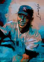Mickey Mantle #19 Art by Edward Vela