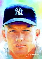 Mickey Mantle #20 Art by Edward Vela