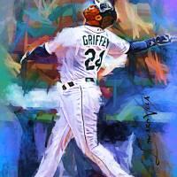 """Ken Griffey Jr 12 Wall Art"" by artofvela"