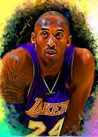 Kobe Bryant #9 Art by Edward Vela