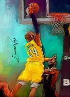 Kobe Bryant #10 Art by Edward Vela