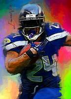 Marshawn Lynch #3 Art by Edward Vela