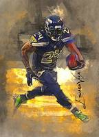 Marshawn Lynch #2 Art by Edward Vela