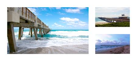 Juno Beach Pier Florida Seascape Collage 1