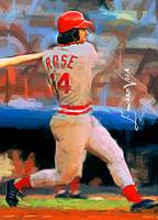 Pete Rose #8 Art by Edward Vela