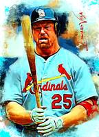 Mark McGwire #3 Art by Edward Vela