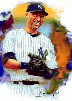Derek Jeter #18 Art by Edward Vela