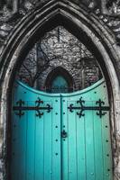 Blue Church Gates