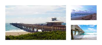 Juno Beach Pier Florida Seascape Collage 3