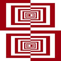 Red And White Geometric Rectangles
