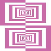 Pink And White Geometric Rectangles