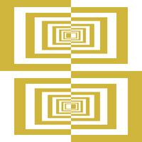 Gold Beige And White Geometrical Rectangles