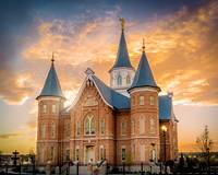 Provo City Center Temple Golden Sunset