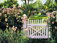 ROSES AT THE GARDEN GATE