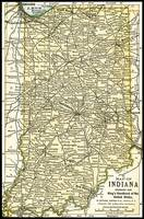 Indiana Antique Map 1891