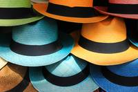Colorful Panama Hats