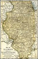 Illinois Antique Map 1891