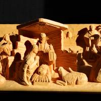 Christmas Creche with Shadows by George Wood by Karen Adams