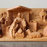 A Christmas Creche by George Wood by Karen Adams