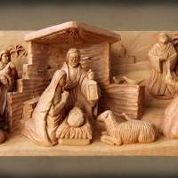 Christmas Creche with Brown Paper by George Wood by Karen Adams