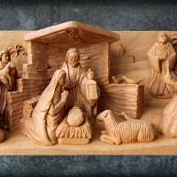 Christmas Creche with Patina by George Wood by Karen Adams