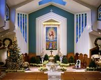 Saint Athanasius Church  at Christmas