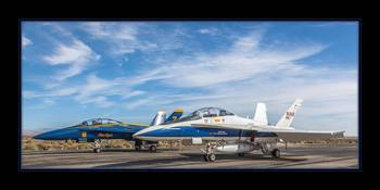 Blue Angel and NASA Hornets