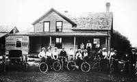 H.H. Chesterman photo of bike group