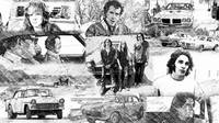 Two Lane Blacktop Collage