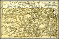 Kansas Antique Map 1891