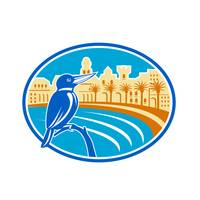 Kingfisher Mediterranean Coast Oval Retro
