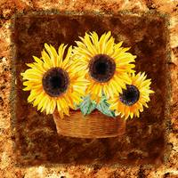 Sunflower Basket Bouquet