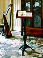 Music Room With Harp