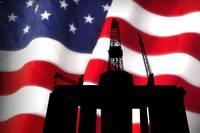 Dramatic American Flag Oil Field IndustryTribute