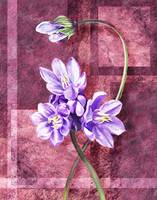 Gorgeous Purple Flowers Decorative Painting