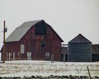 Iowa Outbuildings in Winter
