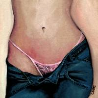 pink lace panties sizzle by Aarron Laidig